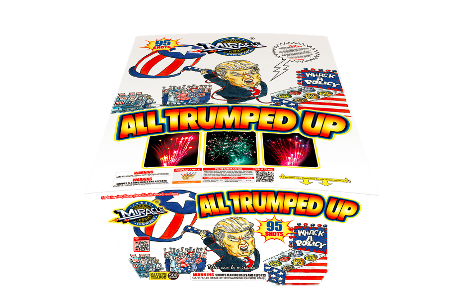 All Trumped Up - 500 Gram Cake at All Star Fireworks
